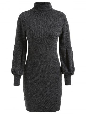 Puff Sleeve Mini Sweater Dress