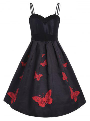 Sleeveless Retro Butterflies Dress