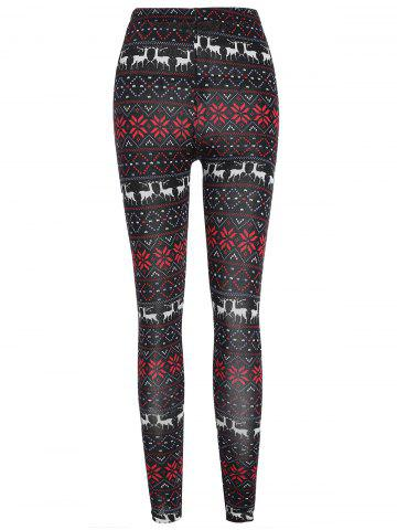 Christmas Reindeer Slim High Waist Leggings