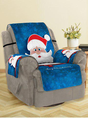 Christmas Santa Claus Pattern Couch Cover - MULTI - SINGLE SEAT