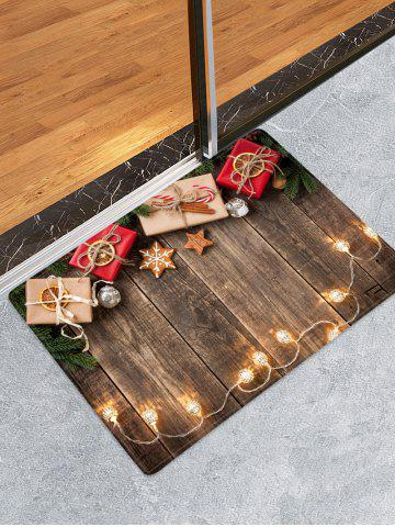 Christmas Gift Wooden Printed Decorative Floor Mat - WOOD - W16 X L24 INCH