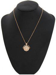 Round Coin Shape Alloy Pendant Necklace -
