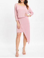 Overlay Asymmetrical Tight Dress -