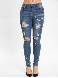 Spray Paint Distressed Jeans -