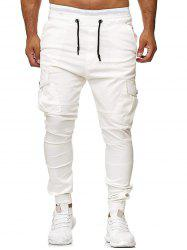 Multi Pocket Drawstring Jogger Pants -