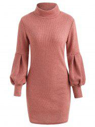 Puff Sleeve Mini Sweater Dress -