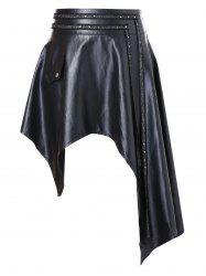 Plus Size Faux Leather PU Skirt -