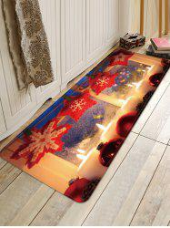 Christmas Candle Balls Pattern Water Absorption Area Rug -
