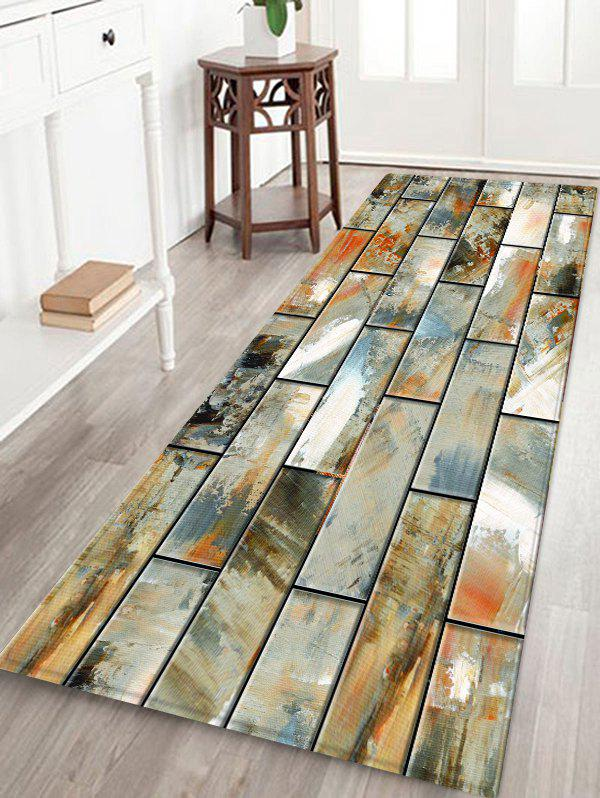 Chic Paint Brick Wall Printed Decorative Floor Mat