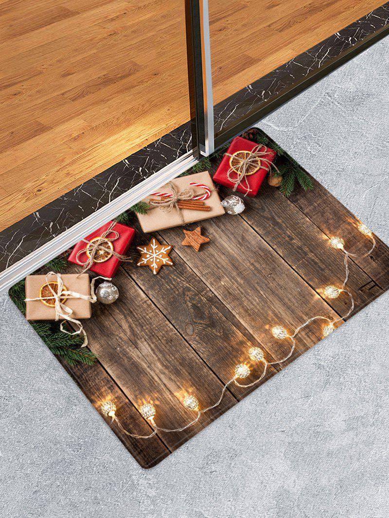 Shops Christmas Gift Wooden Printed Decorative Floor Mat