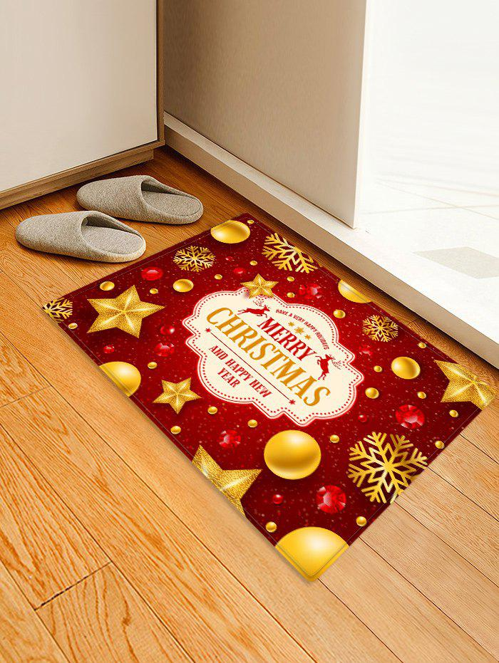 Cheap Christmas Snowflake Star Printed Decorative Floor Mat