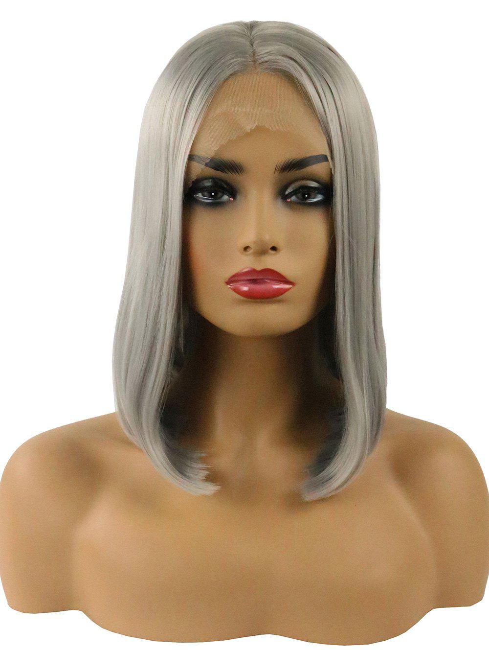 Fashion Middle Part Straight Short Bob Lace Front Synthetic Wig