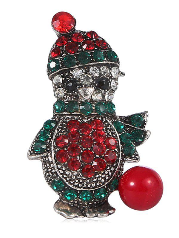 Discount Penguin Rhinestone Christmas Alloy Brooch