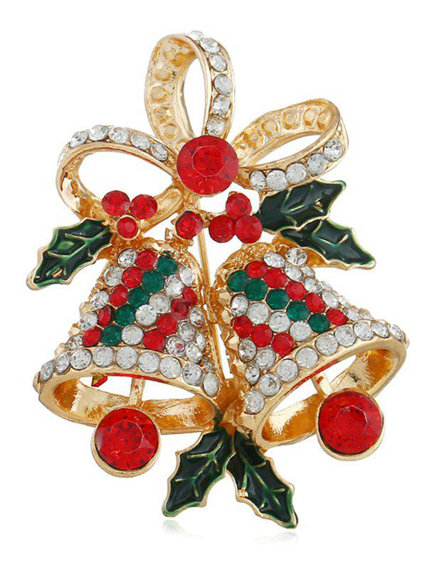 Latest Christmas Bell Design Rhinestone Brooch