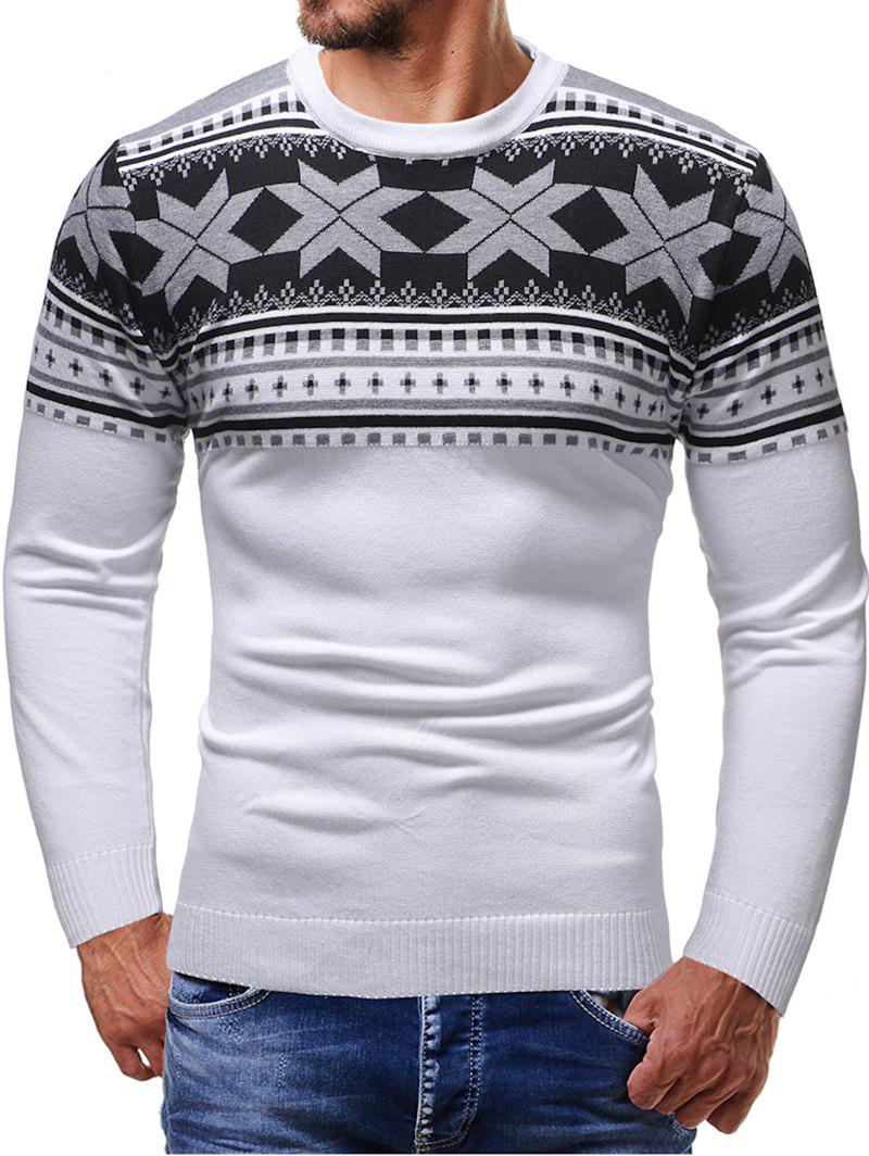 New Christmas Jacquard Pattern Crew Neck Sweater
