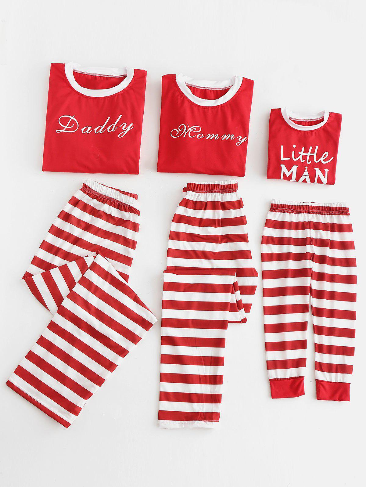 2018 Letter Print Parents Kids Christmas Pajama | Rosegal.com