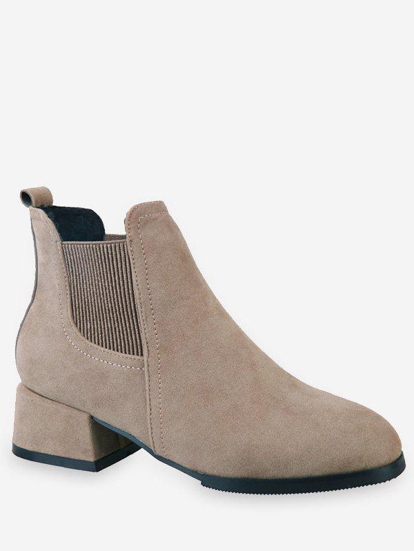 Affordable Chunky Heel Ankle Chelsea Boots