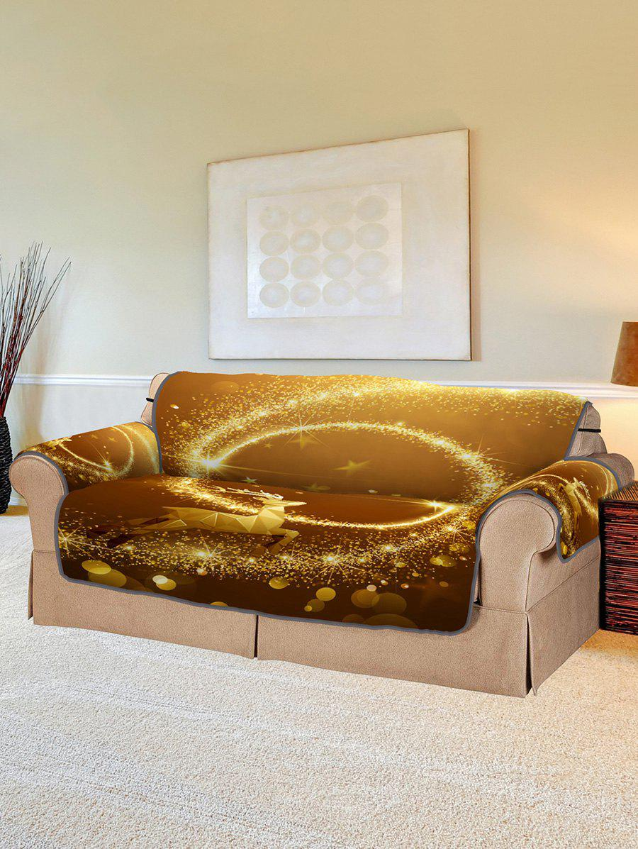 Latest Christmas Elk Starlight Pattern Couch Cover