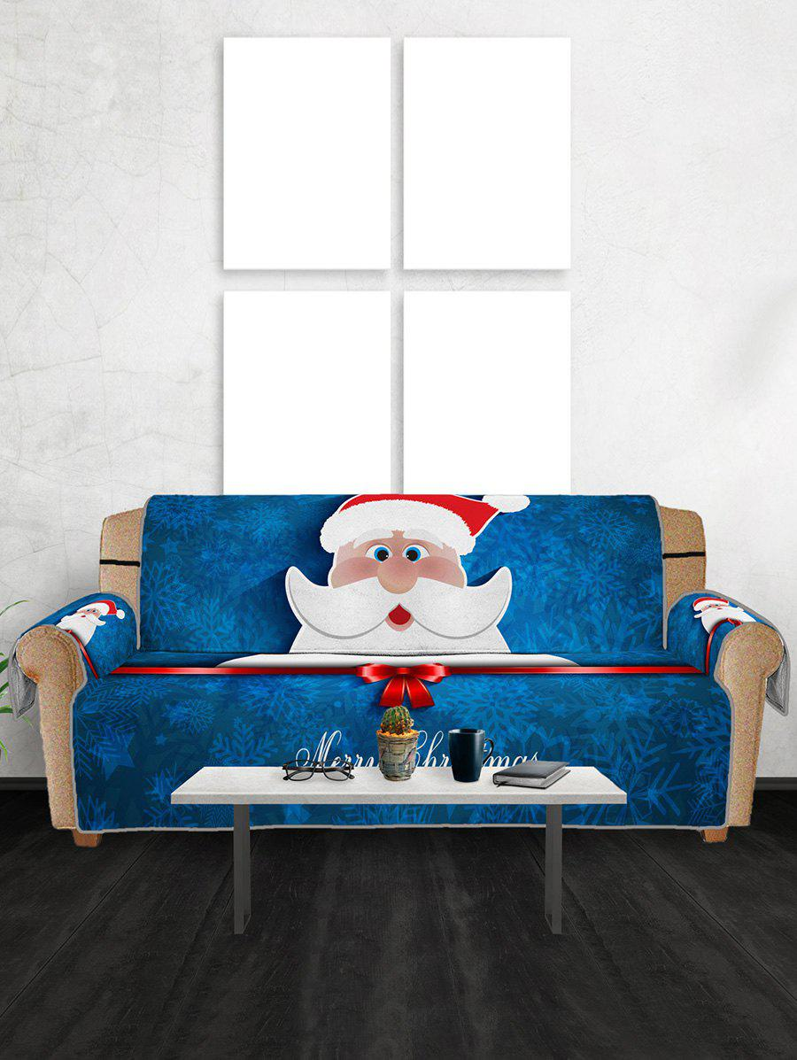 Chic Christmas Santa Claus Pattern Couch Cover