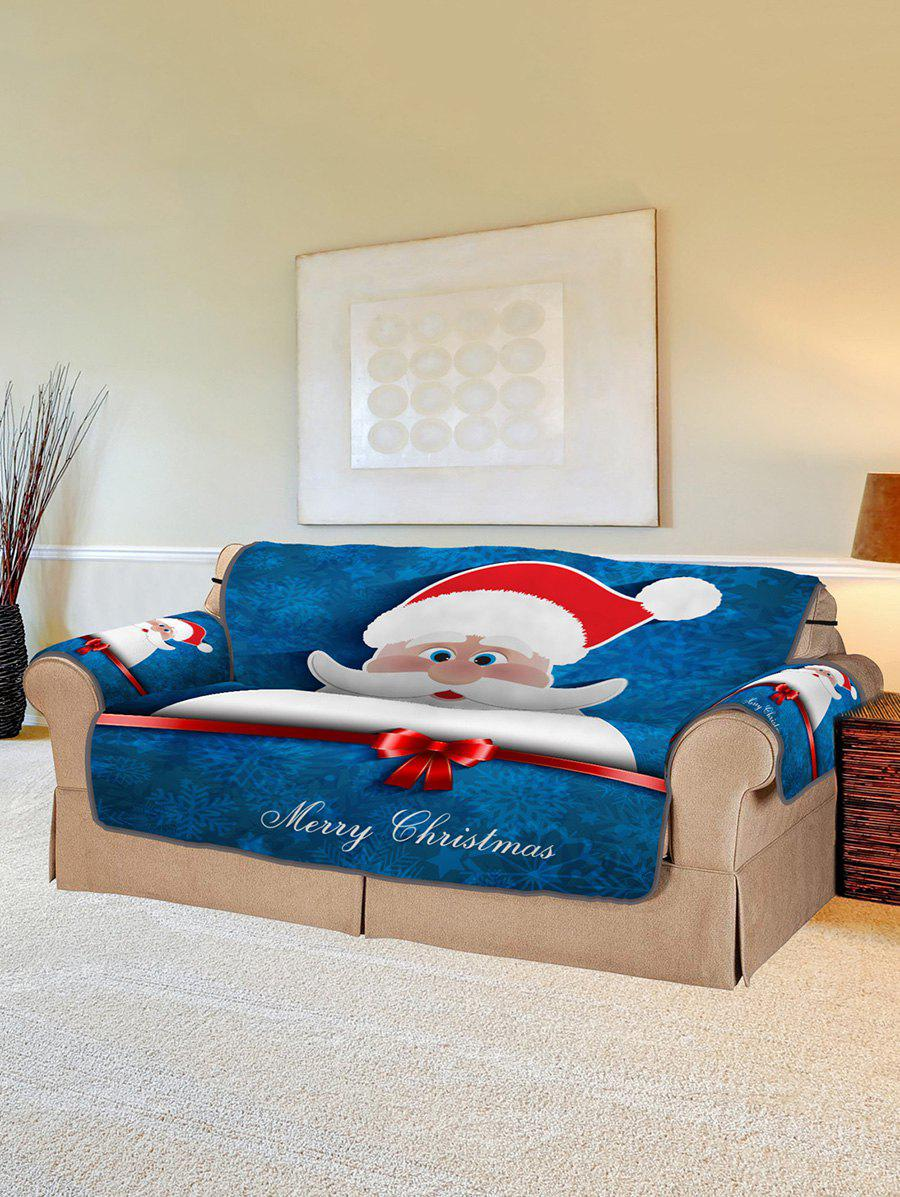 Discount Christmas Santa Claus Pattern Couch Cover
