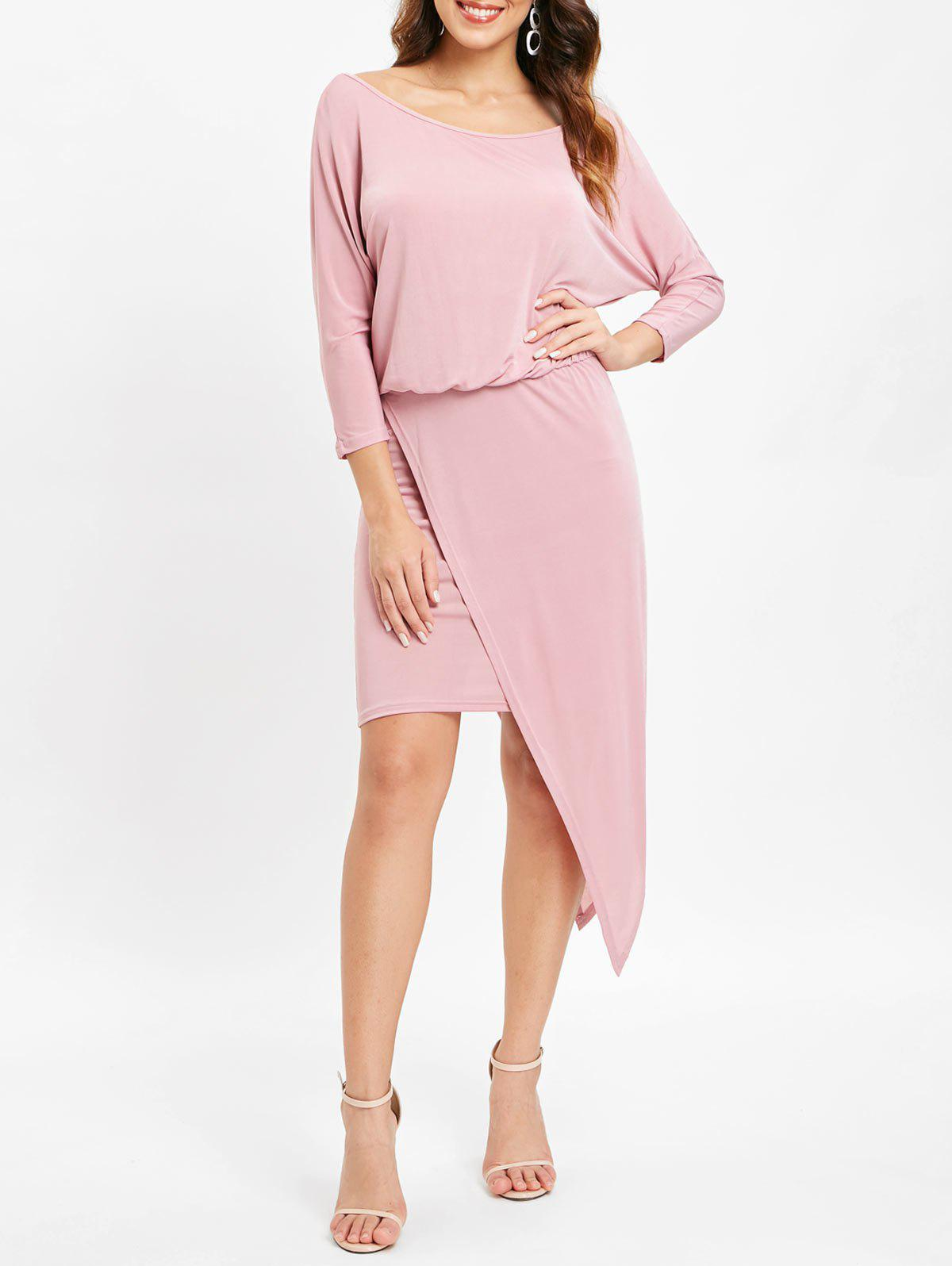 Trendy Overlay Asymmetrical Tight Dress