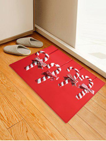 Christmas Candy Cane Pattern Water Absorption Floor Rug