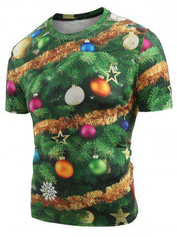 Christmas Baubles Printed Crew Neck T-shirt