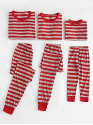 Christmas Striped Print Family Pajamas Set -