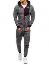 Front Zip Pocket Hoodie and Jogger Pants Twinset -