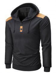 Suede Color Spliced Knitted Hoodie -