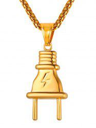 Stainless Steel Plug Design Creative Necklace -