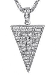 Triangle Zircon Character Pendant Necklace -