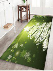 Christmas Snowflake Tree Pattern Water Absorption Area Rug -