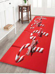 Christmas Candy Cane Pattern Water Absorption Floor Rug -