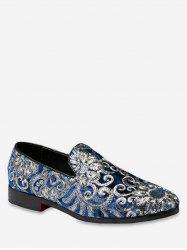 Vintage Embroidery Slip On Shoes -