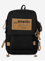 Large Capacity Letter Printed Canvas School Backpack -