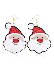Christmas Santa Pattern Earrings -