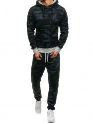 Camouflage Pattern Hoodie and Jogger Pants Twinset -