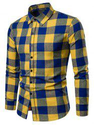 Turn-down Collar Checked Shirt -