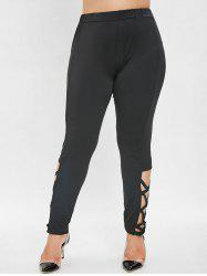 Side Criss Cross Plus Size Leggings -
