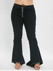 Plus Size Flare Jeans with High Waisted -