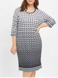 Plus Size Print Sheath Dress -
