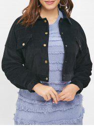 Plus Size Front Pockets Jacket -