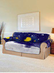 Christmas Moon Night Pattern Couch Cover -