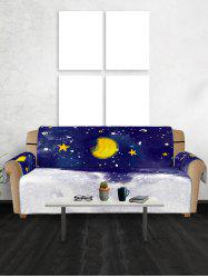 Christmas Moon Night Pattern Couch Cover - Многоцветный Три места