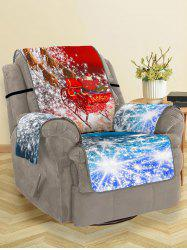 Christmas Elk Sleigh Pattern Couch Cover -