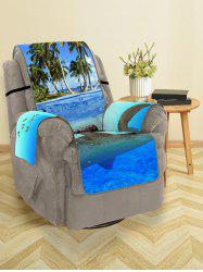 Ocean Turtle Island Pattern Couch Cover -