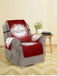 Christmas Greeting Pattern Couch Cover -