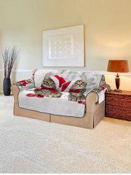 Christmas Cat Pattern Couch Cover -