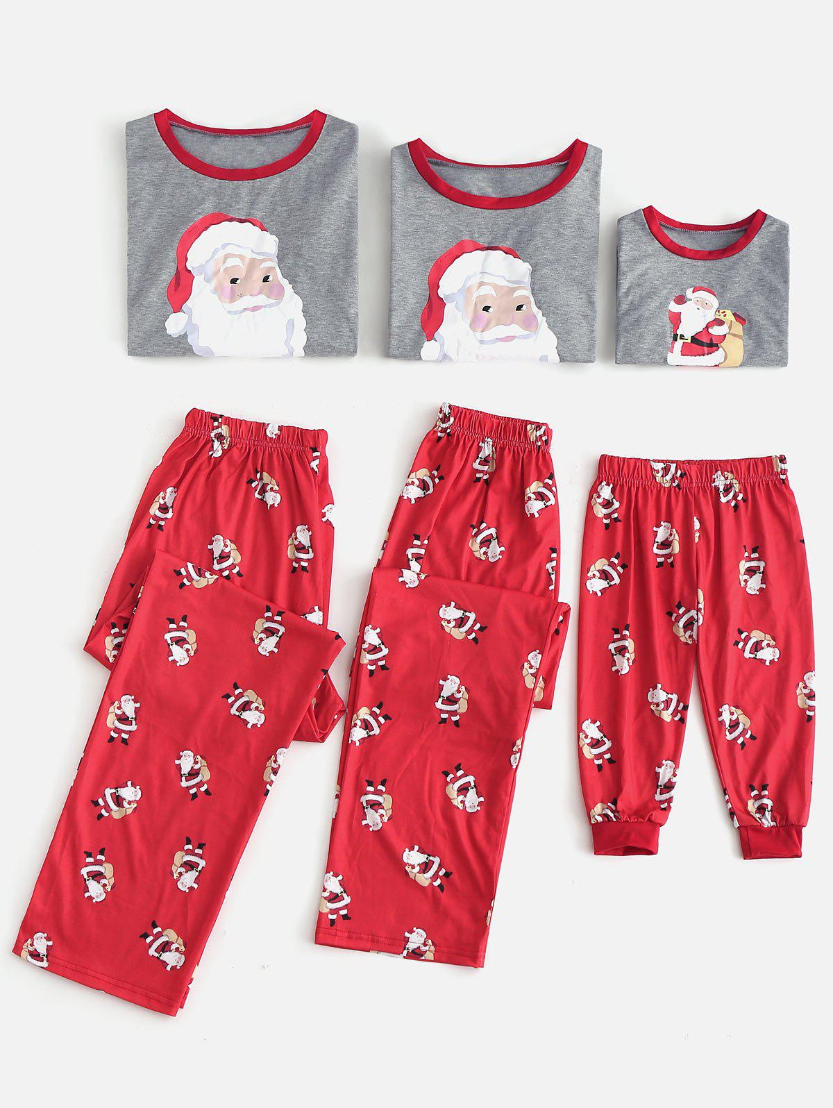 Store Santa Claus Patterned Matching Christmas Family Pajamas